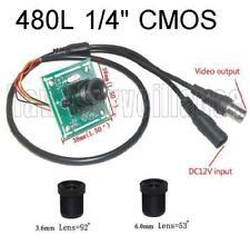 "480TVL CCTV Color Camera Board 1/4"" Inch CMOS + 3.6mm & 6.0mm Lens"