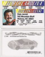 North Carolina  Nascar Legend DALE JARRETT Drivers License FAKE ID card