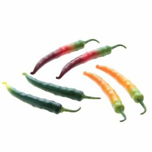 Set of 6 Artificial Peppers, Real Touch and Look Kitchen Decor