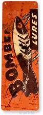 Bomber Lures Fishing Fishing Sign, Bait, Lure, Tackle, Fish, Tin Sign B601
