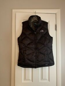 The North Face brown 550 puffer vest sz large