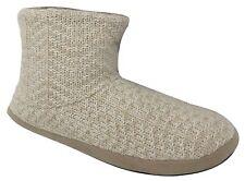 Dearfoams Women's Sweater Knit Bootie Slippers (Large, Oatmeal Heather)