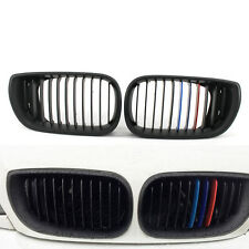 For BMW E46 02-05 3 Series 4 Door Front Grille Kidney Style Matte Black M-Color