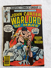 John Carter Warlord of Mars #3 (Aug 1977, Marvel) Newsstand VG