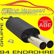 FRIEDRICH MOTORSPORT SPORTAUSPUFF Audi A3 8L S3-Heck 1.6 1.8+T 1.9 TDI