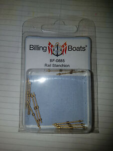 BILLING BOATS - BF-0885 Rail Stanchion (10) 26mm 2 Holes BRAND NEW