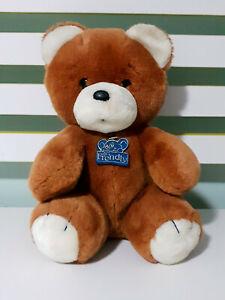 I'm a Frendly Brown Teddy Bear Plush Toy 1984 Fun Farm Dakin Toy 24cm Tall!