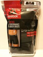 NWT !!! 3 of Pack REEBOK Mens Stretch Performance Boxer Briefs S M L XL