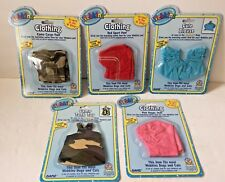 GANZ WEBKINS PET CLOTHES  NEW ON CARD WITH CODES  NEW ON FACTORY CARDS LOT OF 5