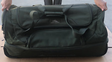"Pre-owned olive green high sierra drop-bottom wheeled duffel bag luggage 29"""