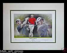 McIlroy/Clarke/McDowell/N Irish Golf/Ltd Edition Print Signed Doig/US Open/New