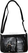 New woman's leather Small Black handbag shoulder handbag day bag Pocketbook BNWT