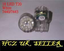 2x 24 LED 3157 7440 992 T20 Luz De La Cola Parada de bombillas de filamento único Blanco Reino Unido