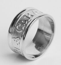 Gents Irish Handcrafted 14K White Gold Mo Anam Cara Ring all sizes available