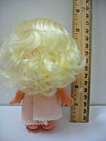 "Collectible Vintage OOAK White-Blonde Hair/Big Eyes-5.5"" Tall-Moveable Arms/Head"