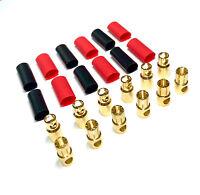 5 Paar 10 Stück 6mm 6,0mm Goldstecker Stecker Buchse Lipo Akku+ Schrumpfschlauch