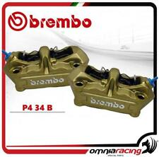 Brembo Pareja Pinze Radiali P4 34 B Colore Oro intersasse 100mm Con pastillas