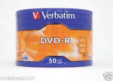 DVD-R 100% Verbatim DVD -R Matt Silver 4.7GB 16X vergini vuoti 120 min 43788