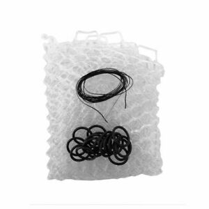 """FISHPOND NOMAD 19"""" REPLACEMENT RUBBER NET BAG IN CLEAR COLOR FITS BOAT & EL JEFE"""