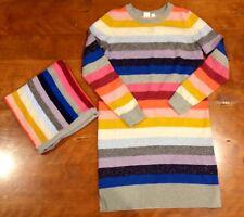 Gap Kids Striped Dress with Matching Infinity Scarf Size 12