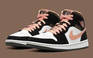 Nike Air Jordan 1 Mid SE Peach Mocha Women's Size 8 DH0210-100 NEW
