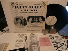 """buddy holly & the picks""""the or shirp""""lp12""""+livret+2 inserts+photo+1 ticket+carte"""