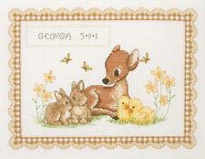 Baby Animal - Anchor Cross Stitch Kit - Birth Record - ACS23