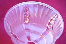 French Art Deco Ezan Frosted Pressed Glass Light Chandelier Shade A