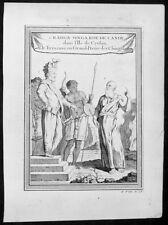 1755 Prevost Antique Print of Sri Rajadhi Raja Singha meeting Holy Man Sri Lanka