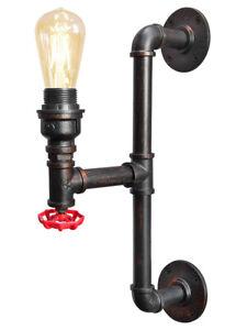 Vintage Industrial Rustic Handle Style Wall Light Metal Waterpipe Lamp M0187