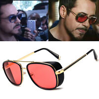 Outdoor Protective Goggles Side Shield Design Tony Stark Steampunk Sunglasses