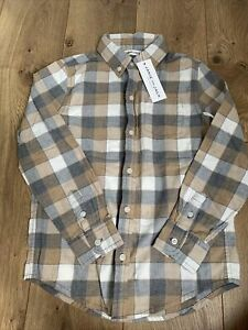 Janie And Jack Boys Size 6 Plaid Button Down Shirt NWT