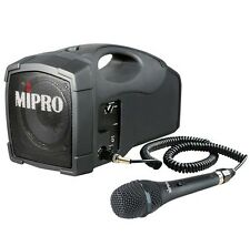 MIPRO MA-101C Beschallungssystem Tragbar Akkubetrieben inkl Mikrofon MM107