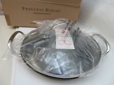 """6361 Princess House Heritage Stainless Steel NON STICK 9"""" Mini Griddle w/Lid NIB"""