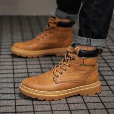 Para Hombres Zapatos Tenis Botas De Trabajo Retro Informal Deportes al Aire Libre Impermeable Suave