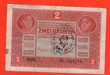 CROATIA 2 KORONA KRUNA KRONEN  1918  .G. RRR seal - KOTORSKA OBLAST Đurđevac