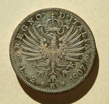 2 Lire - Regno d'Italia - 1907 - Vittorio Emanuele III°.