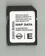 Tarjeta SD Nissan Connect 2009-2013 Nav mapa Micra Note Cube Qashqai Juke 25920BH00A