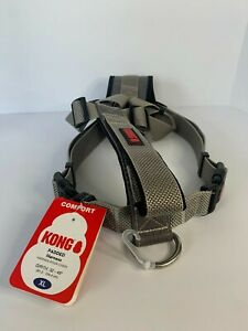 """KONG Padded Chest Plate Dog Harness BRAND NEW-XL Grey Girth 32-49"""""""