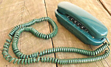 Vintage Hunter Green Spectra Phone Desk Telephone Touch Pad Working Slim Line