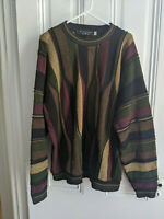 Vintage 90s Protege Sweater Coogi-Style Mens Size 2XL XX Large Bill Cosby 3D