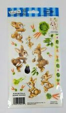 Rub-On Transfer 2001 Vintage Bunny Rabbit Carrot New in Package Decoupage Craft