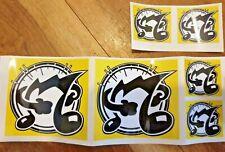 Oberheim sticker decal 2 large (53mm x 53mm approx) 4 small (26mm x 26mm approx)