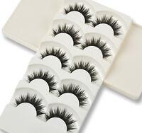5 Pairs Soft Handmade Makeup Thick False Eyelashes Eye Lashes Long Black Nautral