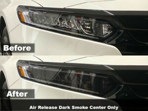 Crux Moto Headlight Tint Dark Smoke 20% fits Accord 2018 +