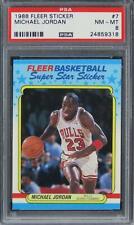 1988 Fleer Sticker Michael Jordan HOF #7 PSA 8 NM-MT