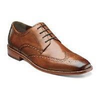 Florsheim Men's Shoes Castellano Wing Ox Oxford Leather Saddle Tan 14137-257