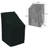 Waterproof Stacking Chair Cover Outdoor Garden Furniture Rain Snow UV Patio Q