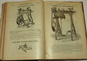 VTG 1900s MACHINISTS CATALOG! TERRIFIC GRAPHICS! TOOLS! HUMAN POWERED MACHINERY!