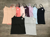 Primark NEW SIZING Ladies Womens Girls Stretch Cami Vest Strap Top Size 4 - 24